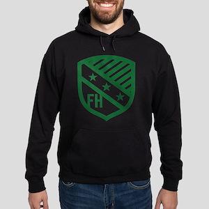 Farmhouse Fraternity Green Crest Hoodie (dark)