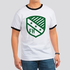 Farmhouse Fraternity Green Crest Ringer T