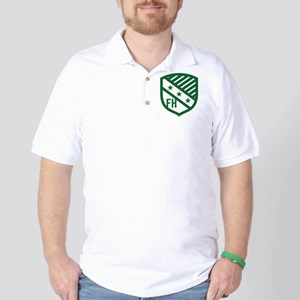Farmhouse Fraternity Green Crest Golf Shirt