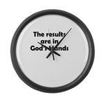 results-gods-hands Large Wall Clock