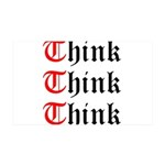 think-think-think-old-english Wall Decal
