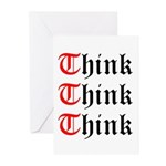 think-think-think-old-english Greeting Cards