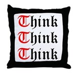 think-think-think-old-english Throw Pillow