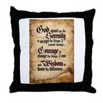 serenity-scroll Throw Pillow