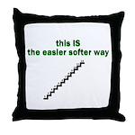 easier-softer Throw Pillow