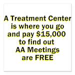 meetings-free Square Car Magnet 3
