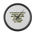 meetings-free Large Wall Clock