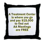 meetings-free Throw Pillow