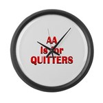 aa-quitters Large Wall Clock