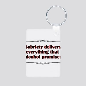 sobriety-delivers Keychains