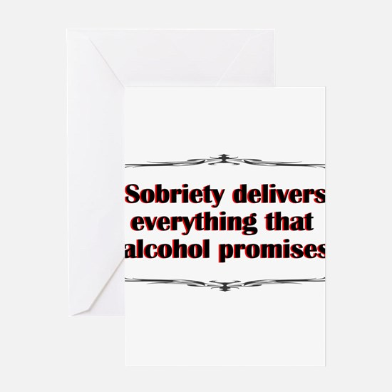 sobriety-delivers.png Greeting Cards