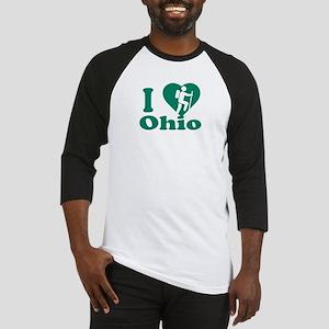 Love Hiking Ohio Baseball Jersey