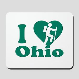 Love Hiking Ohio Mousepad