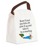 ass-falls-off Canvas Lunch Bag