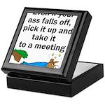 ass-falls-off Keepsake Box