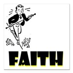 faith Square Car Magnet 3