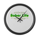 sober-life Large Wall Clock