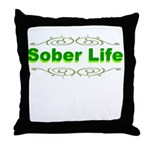 sober-life Throw Pillow