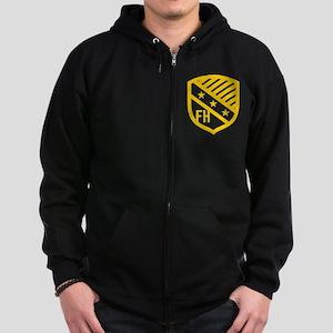 Farmhouse Fraternity Yellow Cres Zip Hoodie (dark)