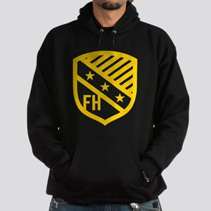 Farmhouse Fraternity Yellow Crest Hoodie (dark)