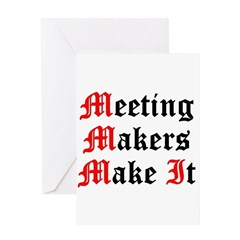 meeting-makers Greeting Cards