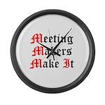 meeting-makers Large Wall Clock