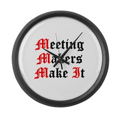 meeting-makers Large Wall Clock