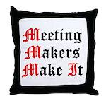 meeting-makers Throw Pillow