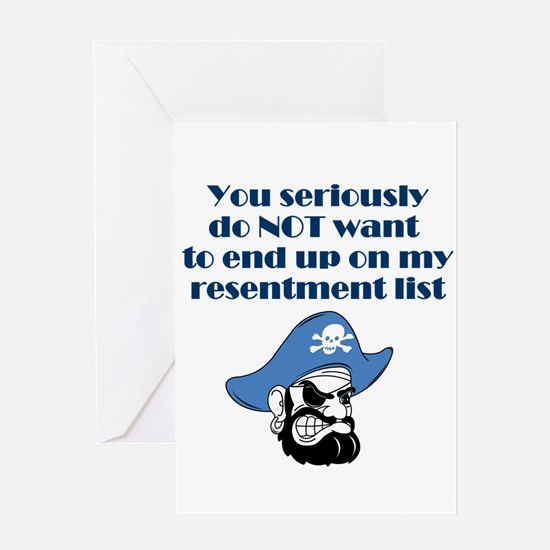 resentment-pirate.png Greeting Cards