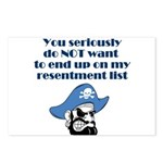 resentment-pirate Postcards (Package of 8)