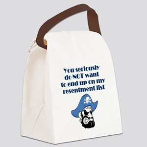 resentment-pirate Canvas Lunch Bag