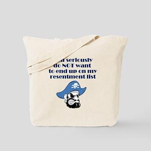 resentment-pirate Tote Bag