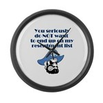 resentment-pirate Large Wall Clock