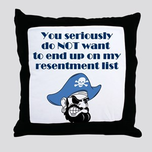 resentment-pirate Throw Pillow