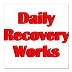 daily-recovery Square Car Magnet 3