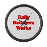 daily-recovery Large Wall Clock