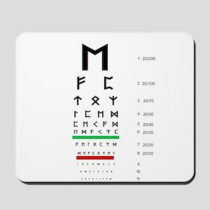 Snellen Rune Eye Chart Mousepad