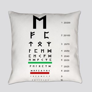 Snellen Rune Eye Chart Everyday Pillow