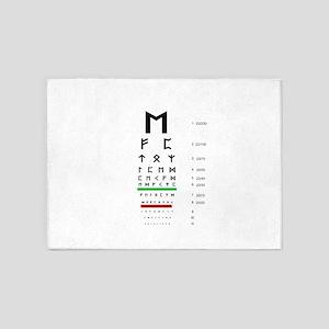 Snellen Rune Eye Chart 5'x7'Area Rug