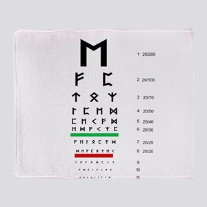 Snellen Rune Eye Chart Throw Blanket
