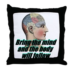 mind-will-follow2 Throw Pillow