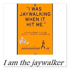 jaywalking Square Car Magnet 3