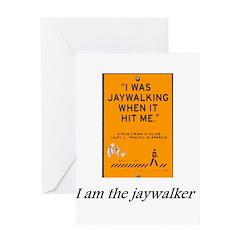 jaywalking Greeting Cards