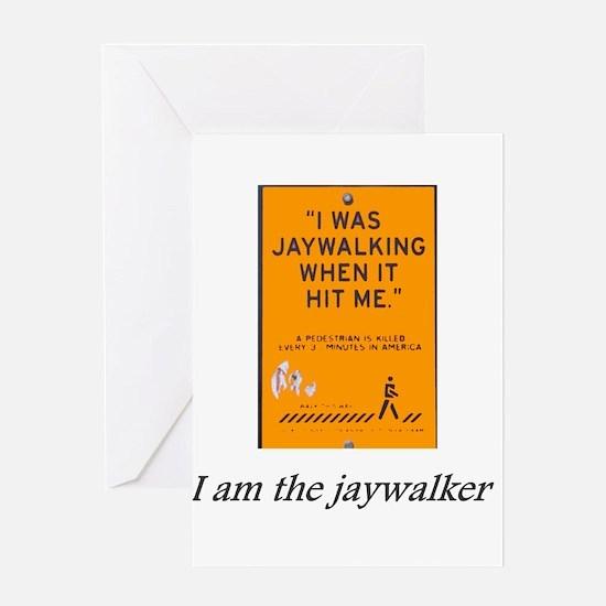 jaywalking.png Greeting Cards