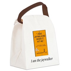jaywalking Canvas Lunch Bag