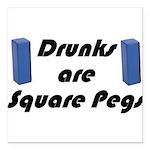 square-pegs Square Car Magnet 3