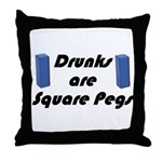 square-pegs Throw Pillow