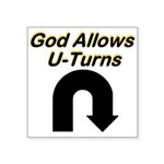 u-turns Sticker