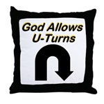 u-turns Throw Pillow