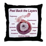 peel-back-layers Throw Pillow